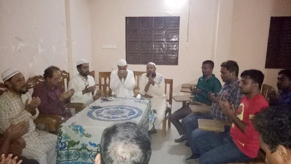 সাংবাদিক কামরুলের সুস্থতা কামনায় দোয়া মাহফিল